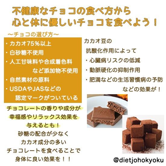 チョコの食べ方を変えよう!!