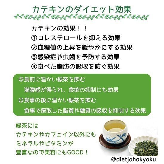 ◆カテキンのダイエット効果  ~冬でも水分補給は大切!~